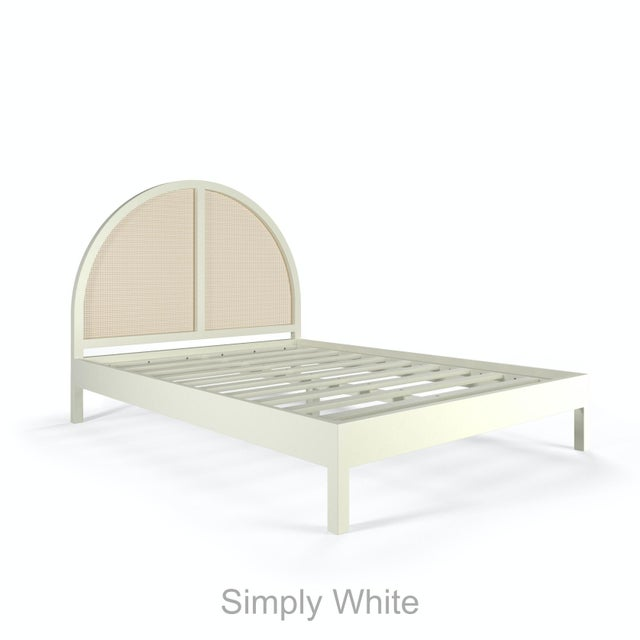 Not Yet Made - Made To Order Eva Bed - Queen - Simply White For Sale - Image 5 of 5