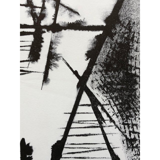 Abstract Jerry Opper Mid Century Abstract Stone Lithograph For Sale - Image 3 of 10