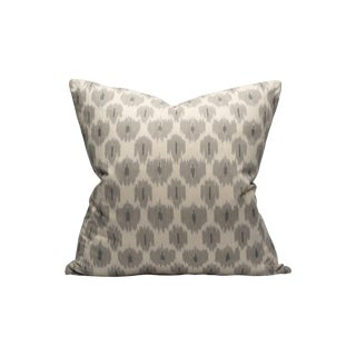 Amara Ikat Pillow, Stone For Sale