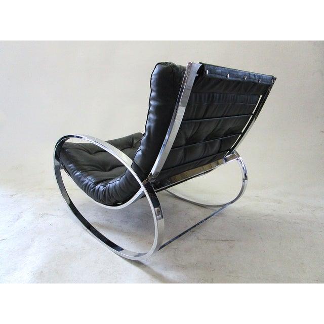 Milo Baughman Vintage Rocking Chair & Ottoman - Image 3 of 6