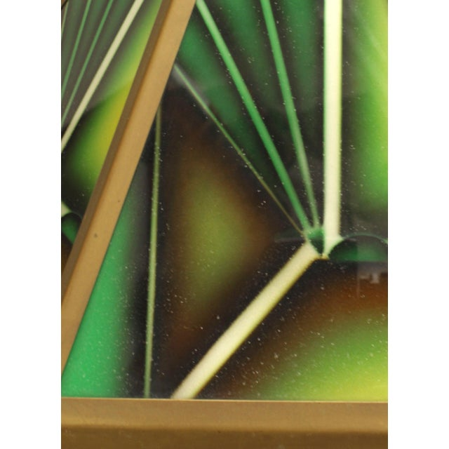 Art Deco Art Deco Green Glass Fringed Lanterns - a Pair For Sale - Image 3 of 5