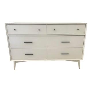 West Elm White Mid-Century Dresser