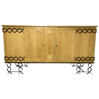 1940s Jean Royère Oak Credenza For Sale