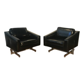 1960s Vintage Hans Eichenber Style NYC Hotel Lounge Chairs - A Pair For Sale