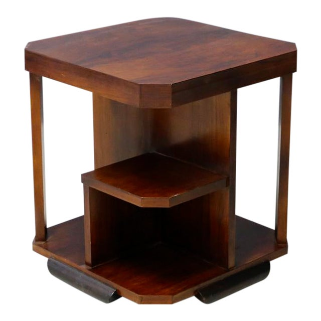 Art Decò Walnut Coffe Table For Sale