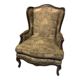 Henredon Louis XV Wingback Chair For Sale