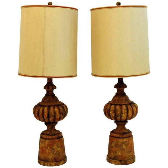 Mid Century Modern Michael Taylor for Chapman Table Lamps With Shades - a Pair For Sale - Image 9 of 9