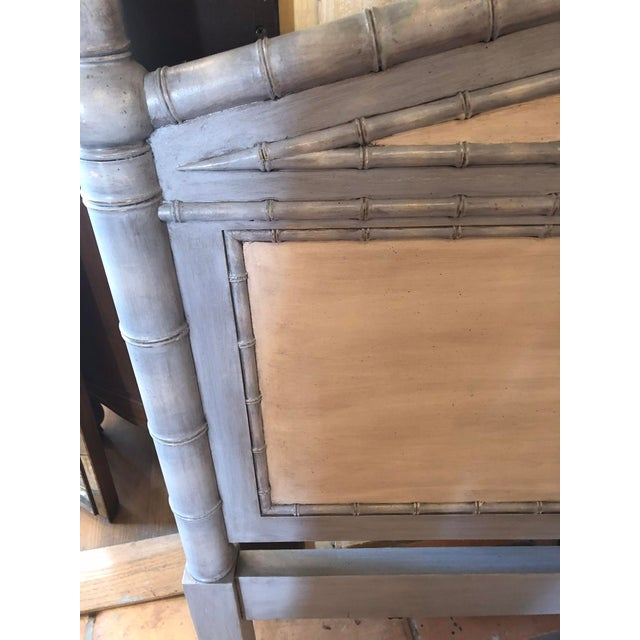 Hand painted pair of faux bamboo twin headboards. Could easily be used as a king headboard or joined to a twin bed frame...