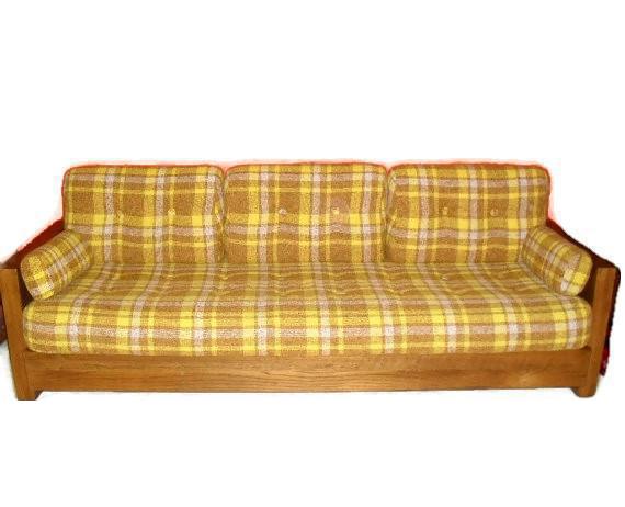 1970s Howard Furniture Plaid Sofa