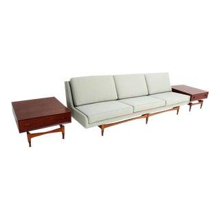 Danish Mid Century Modern Teak Sofa For Sale