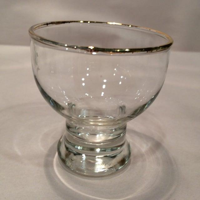 """Vintage """"L """" Monogrammed Crystal Aperitif Glasses - Set of 6 - Image 3 of 11"""