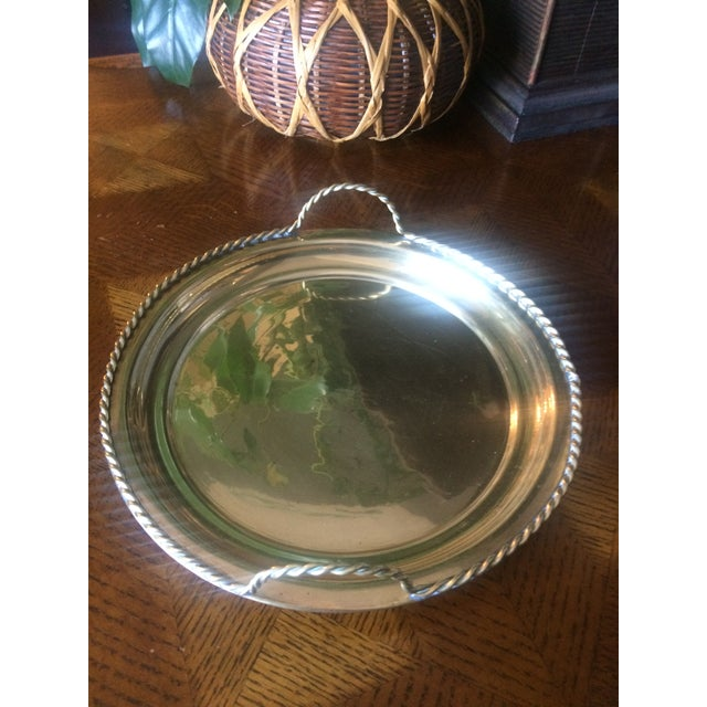 1980s Brass Tray With Handles For Sale In Nashville - Image 6 of 6