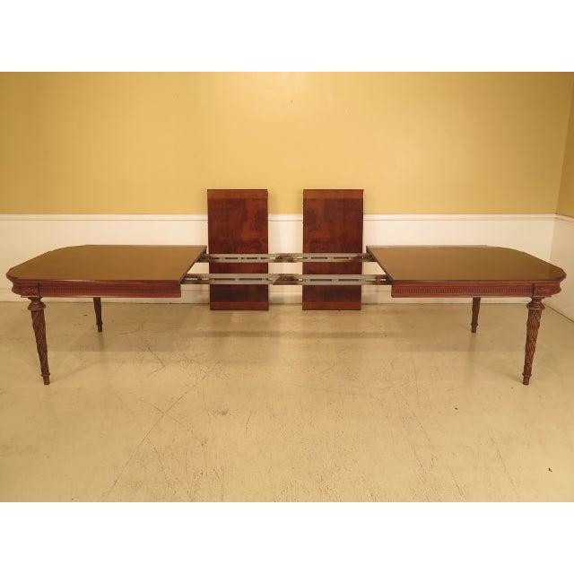 Brown EJ Victor Regency Burl Walnut Dining Room Table For Sale - Image 8 of 11