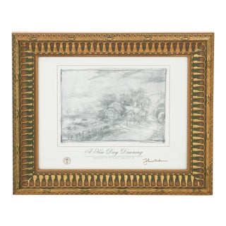 """A New Day Dawning"" Artist's Study Sketch by Thomas Kinkade For Sale"