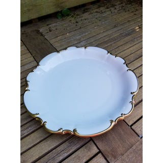 Shabby Chic Gold Rim Bavarian Cake Plate by Hutschenreuther Selb Preview
