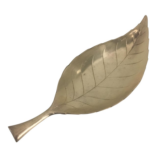 Image of Vintage Brass Leaf Tray