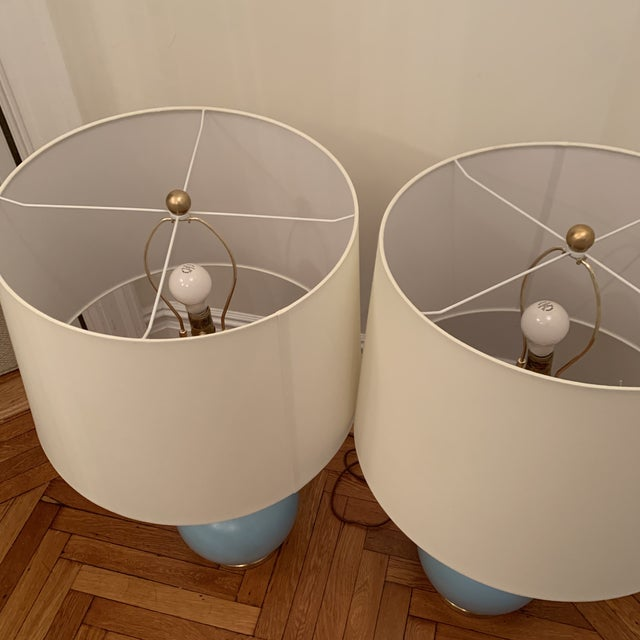 Christopher Spitzmiller Coy Large Table Lamp Set For Sale - Image 9 of 10