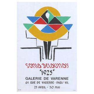 "Jacques Damase Sonia Delaunay Galerie De Varenne Poster ""1925"", Circa 1975 For Sale"