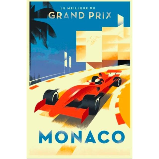 Monaco Grand Prix Contemporary Retro Design Poster - Image 1 of 2