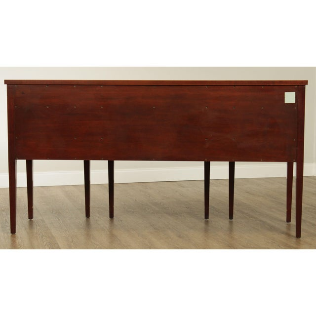 1990s Kindel Winterthur Collection Mahogany Inlaid New York Sideboard (C) For Sale - Image 5 of 13