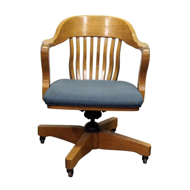 Blue Jasper Office Chair For Sale - Image 8 of 8