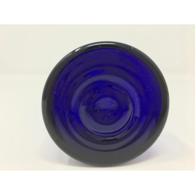 1960s Scandinavian Modern Cobalt Blue Vase For Sale - Image 5 of 9