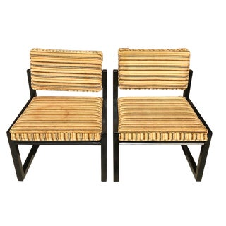 Vintage Mid Century Lane Painted Chairs- A Pair For Sale