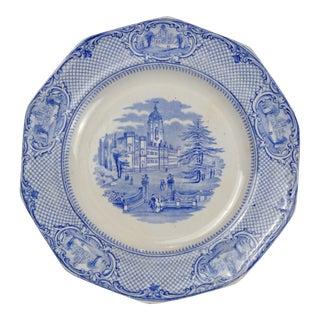 Antique John Ridgway & Co Transferware Plate in University Pattern For Sale