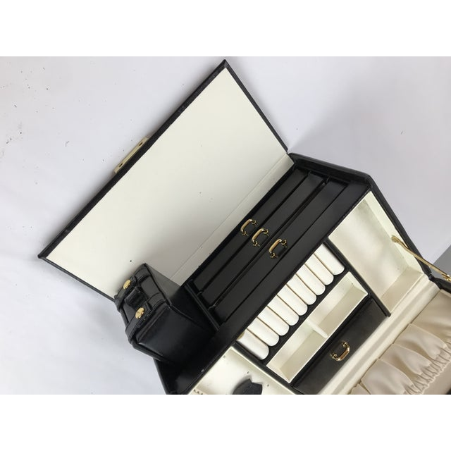 Black Leather Train Case For Sale - Image 10 of 13