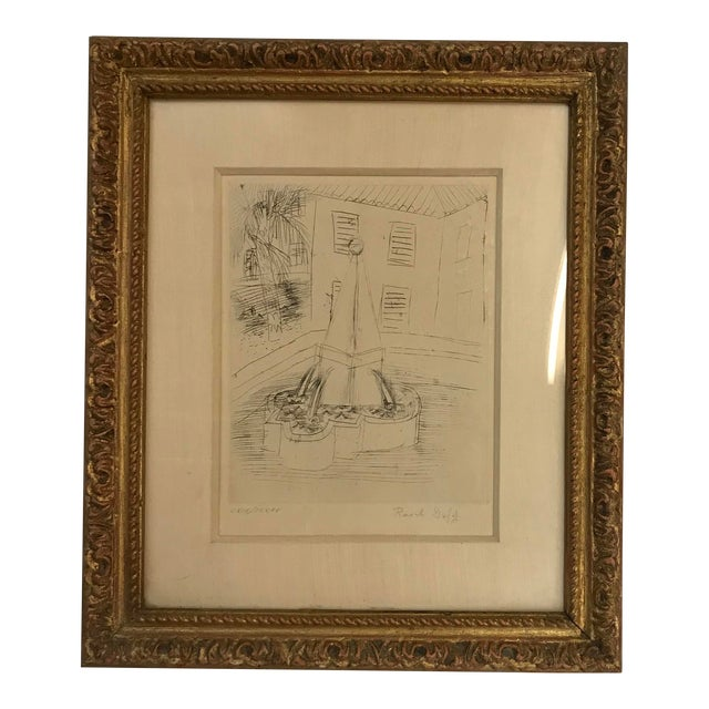 1940s Abstract Original Raoul Dufy Framed Etching For Sale