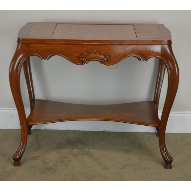 Italian Provincial Louis XV Style Game Table W/ Chess Board Top For Sale - Image 4 of 13