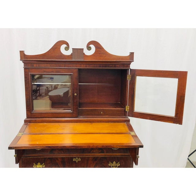Antique Secretary Cabinet For Sale - Image 10 of 13