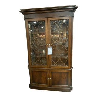 Flame Mahogany Roth Hutch by Ethan Allen For Sale