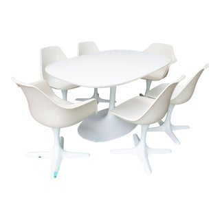 1960s Space Age Burke Dining Set - 7 Pieces For Sale