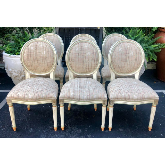 Set of 6 French Louis XVI Balloon Back Dining Chairs For Sale - Image 10 of 10