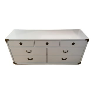 White High Gloss Campaign Dresser-Huntley by Thomasville For Sale