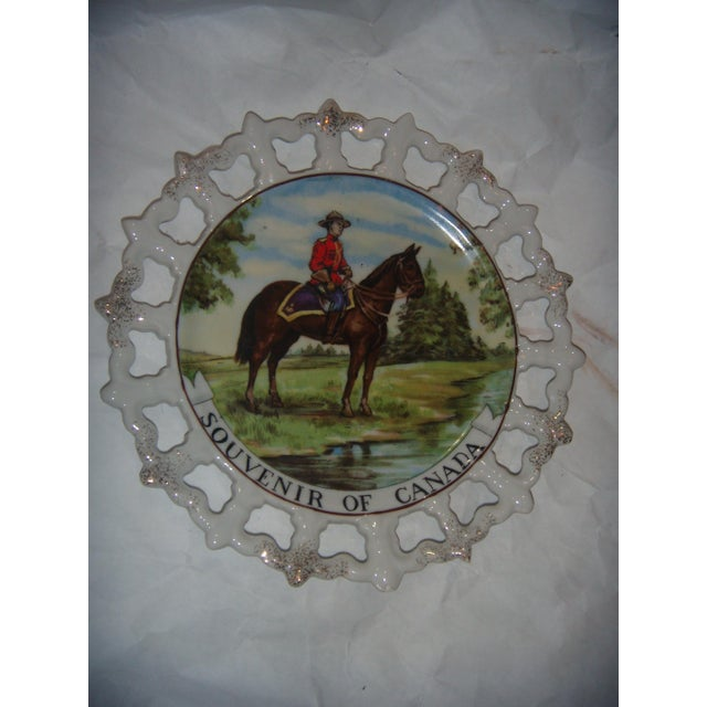 Royal Canada Hand-Painted Mounties Plates - A Pair - Image 3 of 8
