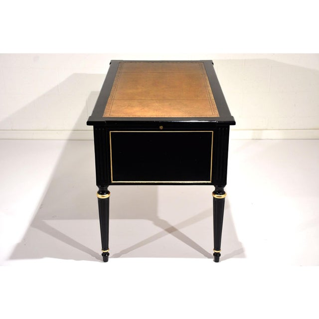 French Louis XVI-style Ebonized Desk - Image 9 of 10