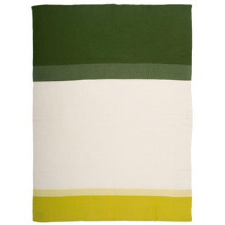 """Array Cashmere Blanket, Green, 50"""" x 67"""" For Sale"""