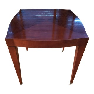 Baker Side Table With Casters For Sale