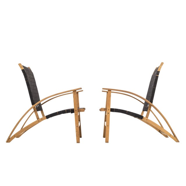 "Pair of Carl Koch ""Sno-Shu"" Lounge Chairs For Sale"