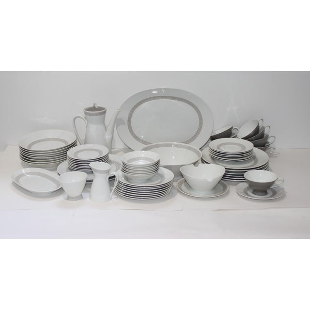 """Mid-Century Modern Rosenthal """"Athenia"""" Dinner Service for 8 Plus Serving Pieces - 63 Items Total For Sale - Image 13 of 13"""