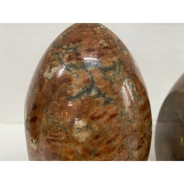 Vintage Italian Marble Egg Bookends - a Pair For Sale In Chicago - Image 6 of 12
