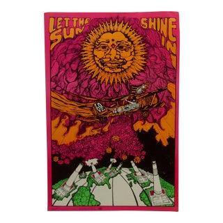 "Vintage ""Let the Sun Shine In"" Blacklight Poster For Sale"
