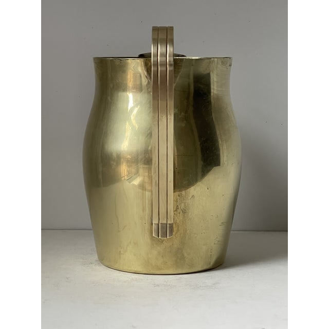 Tommi Parzinger Dorlyn Brass Pitcher by Parzinger For Sale - Image 4 of 9
