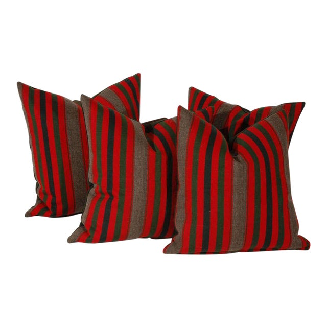 19th Century Wool Indian Blanket Pillows For Sale