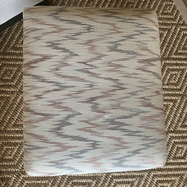 Vintage Weiman Upholstered X Bench For Sale - Image 11 of 13