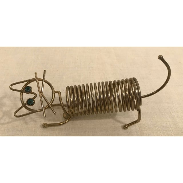 Mid-Century Cat Coiled Letter Holder - Image 6 of 8