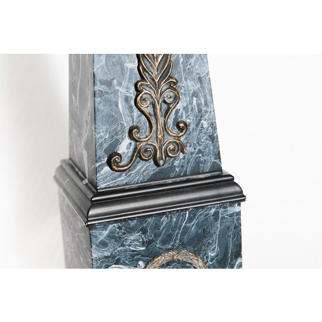 Neoclassical Faux Marble Obelisks- A Pair - Image 10 of 10