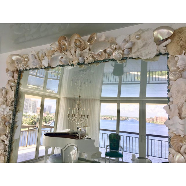 Large Horizontal Seashell & Coral Mirror For Sale - Image 9 of 10